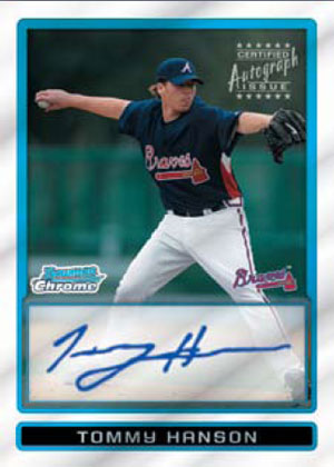 This our first look at the 2009 Bowman Chrome product. Always a fan favorite, this years product looks to be another success for the product. The product will feature a […]