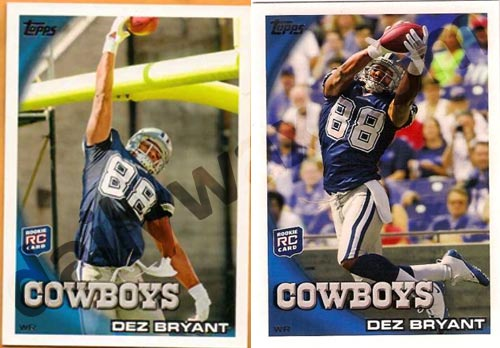 In the 2010 Topps Football release, Topps has inserted some alternative photos for some of the rookie cards in the set. The short print variations (SP) are seen on the […]