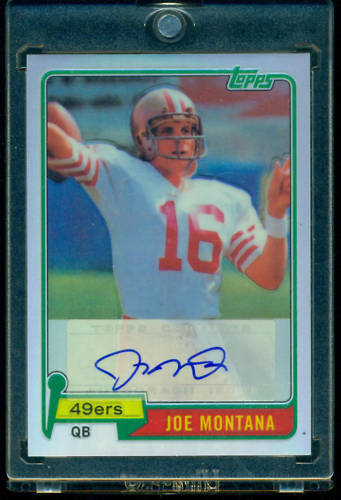Included as an extra incentive to bust the 2010 Topps Chrome Football product, Topps had inserted a Topps Chrome Reprint Rookie Autograph into their product. Each card is a reprint […]
