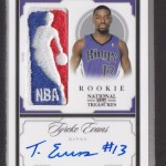 2009-10 National Treasures Tyreke Evans Logoman Autograph 1/1