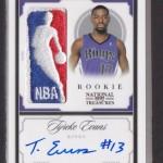 2009-10 National Treasures Tyreke Evans Logoman Autograph 1/1