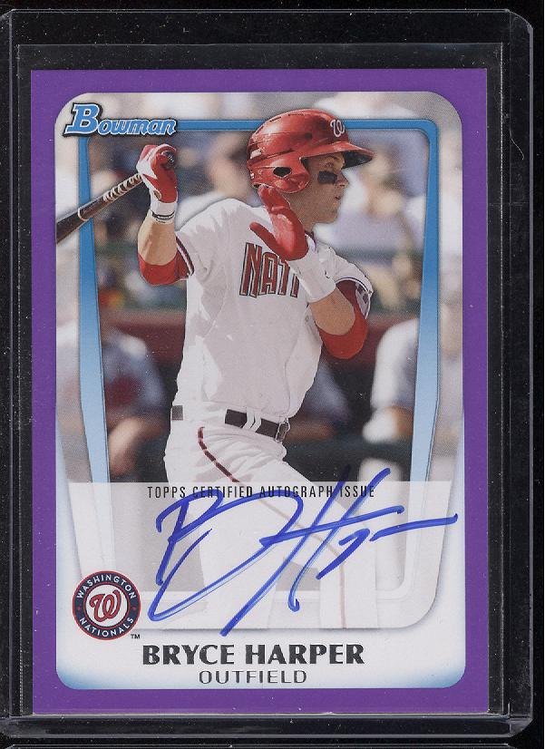 First 2011 Bowman Baseball Bryce Harper Autographs hitting eBay. With a Purple Variation?