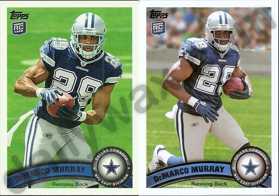 Dailywaxcards 2011 Topps Football Rookie Short Print Sp