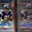 Below are two Adrian Peterson Autographed Rookies from [ebay:2007+Bowman+Chrome+Peterson+Auto*,2007 Bowman Chrome]. At first glance, both look nearly identical. Both look to contain a certified autograph from Topps, which typically lends […]