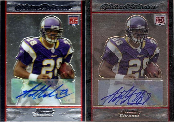 Tips & Tricks: Spotting a fake 2007 Bowman Chrome Football Rookie Auto