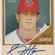 The first [ebay:330616625501,2011 Topps Heritage Minor League Bryce Harper Autograph] has landed on eBay and the card looks to be as advertised based on all of the sell sheet photos. […]