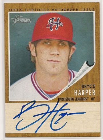 Just on eBay: 2011 Topps Heritage Minor League Bryce Harper Autograph