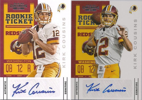 Visual Guide to all 2012 Panini Playoff Contenders Rookie Ticket Photo Variations