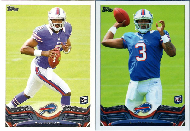 2013 Topps Football Short Print (SP) Variation List