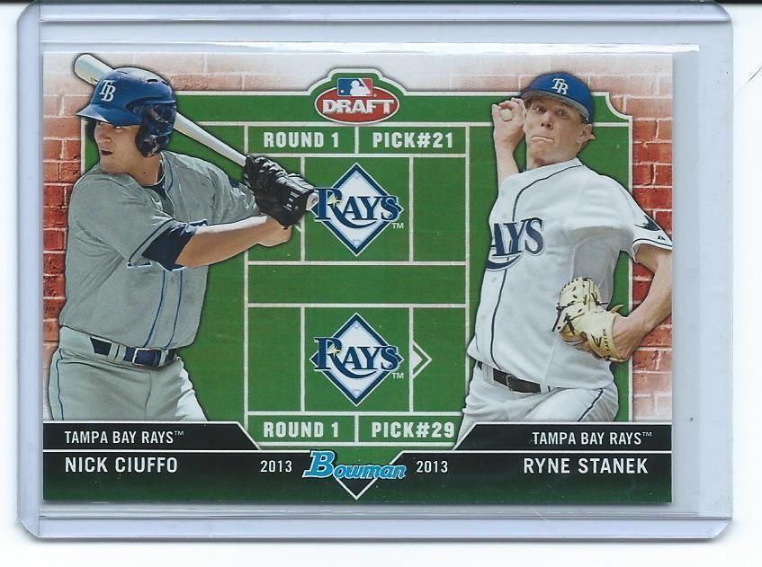 The mystery surrounding the 2013 Bowman Draft Picks & Prospects Dual Draftees Ryne Stanek and Nick Ciuffo card