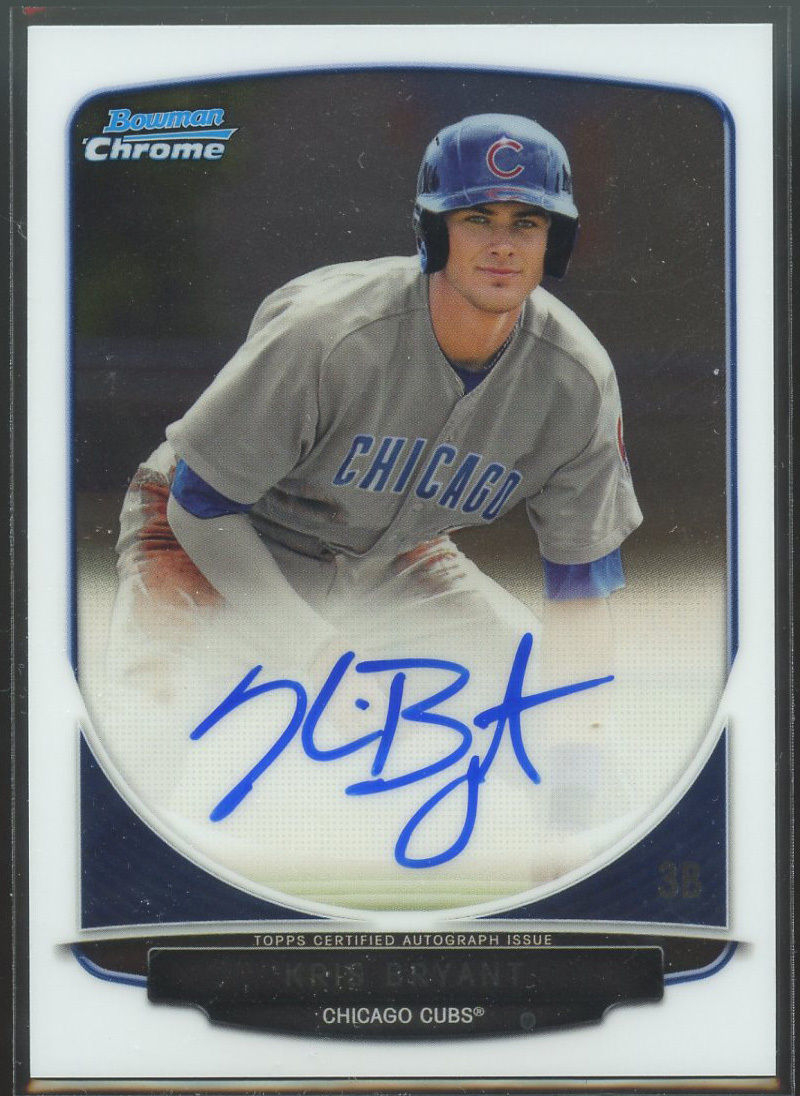 Definitive Guide to Collecting Kris Bryant Bowman Chrome Autographs